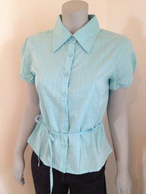 ONLY Bluse Kurzarmbluse Gr. 40, Türkis, kaum getragen