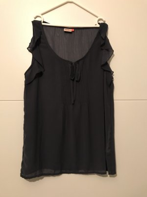 Only Blusa sin mangas azul oscuro