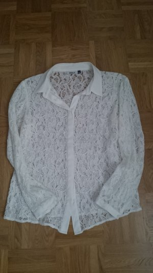 Only, Bluse, Spitze, weiss Gr 36