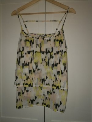 ONLY Bluse/ Top/ gelb gemustert Gr.L