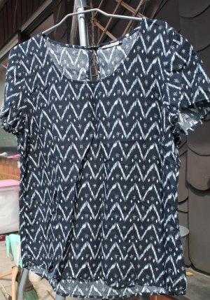 ONLY Bluse Tunika Gr.40 blau/weiß Viskose