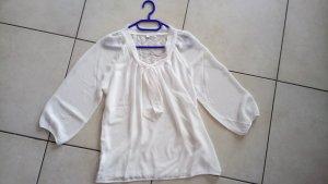 ONLY Bluse * weiß * elegant * Spitzenrücken * 3/4 Arm * 40