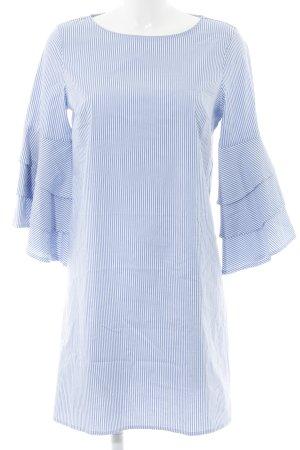 Only Blusenkleid stahlblau-weiß Streifenmuster Casual-Look