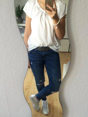 Only Blusenshirt T-Shirt weiß offwhite