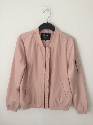 Only Bomber Jacket pink-light pink polyester