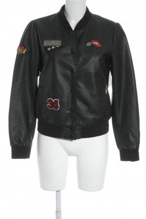 Only Bomberjacke schwarz Street-Fashion-Look