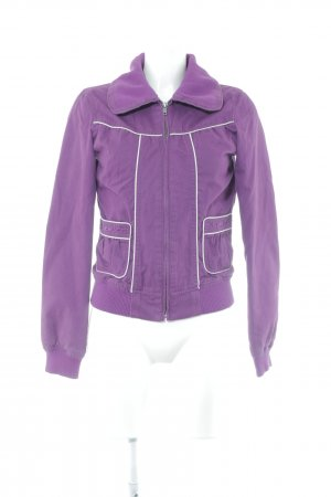 Only Giacca bomber viola-bianco Stile anni '60