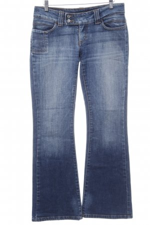 Only Boot Cut Jeans blau Washed-Optik
