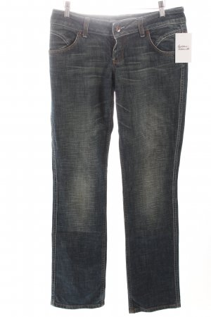Only Boot Cut Jeans stahlblau-creme Webmuster Casual-Look
