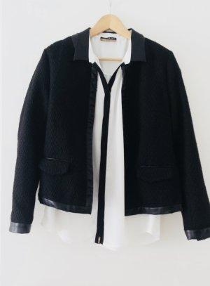Only Blazer en maille tricotée noir polyester