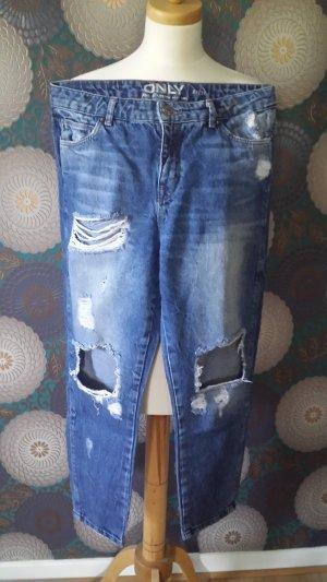 Only Boyfriend Trousers steel blue