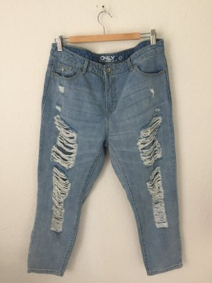 Only Boyfriend Jeans Hellblau Destroyed