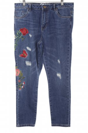 Only Jeans boyfriend motivo floreale stile casual