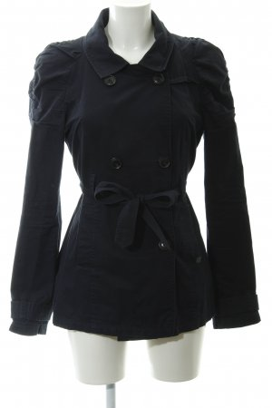 Only Pea Jacket dark blue casual look