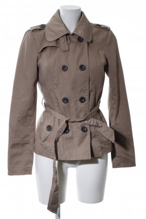 Only Pea Jacket brown casual look
