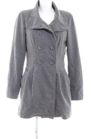 Only Heavy Pea Coat grey flecked casual look