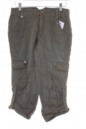 Only Caprihose khaki-silberfarben Casual-Look