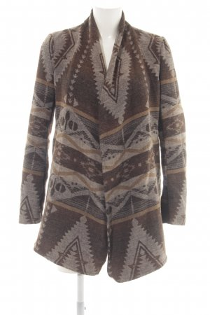 Only Cardigan braun abstraktes Muster Business-Look