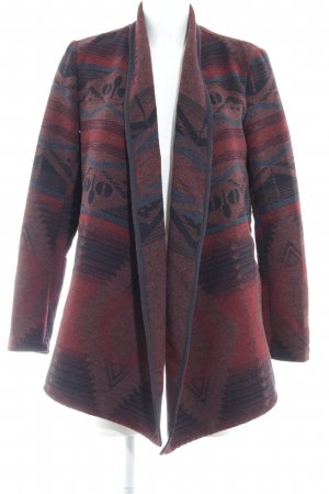 Only Cardigan bordeauxrot-graublau Ethnomuster Casual-Look