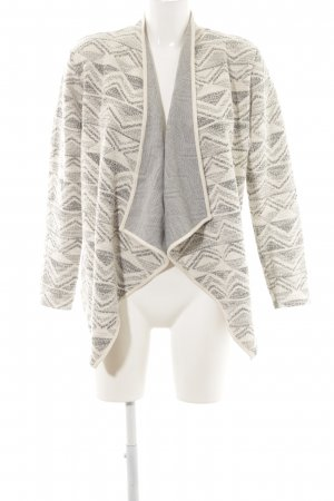 Only Cardigan weiß-hellgrau grafisches Muster Casual-Look