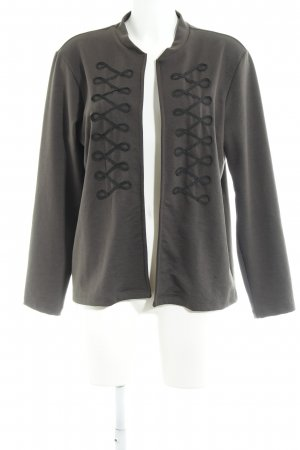 Only Cardigan dunkelgrün abstraktes Muster Casual-Look