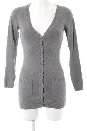 Only Cardigan grau meliert Casual-Look