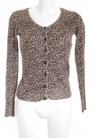 Only Cardigan hellbraun-braun Leomuster Animal-Look