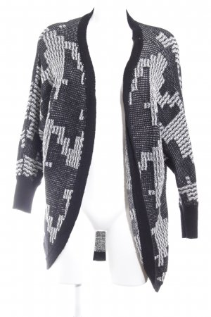 Only Cardigan schwarz-weiß abstraktes Muster Casual-Look