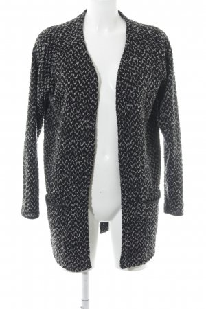 Only Cardigan schwarz Zackenmuster Casual-Look