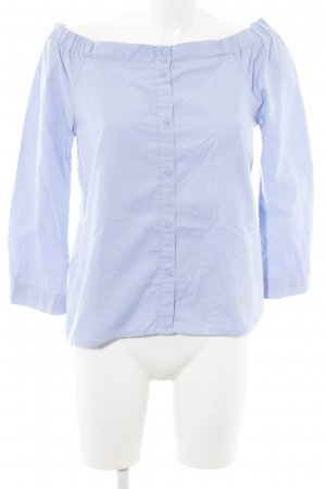 Only Blouse Carmen bleu-turquoise style d'affaires