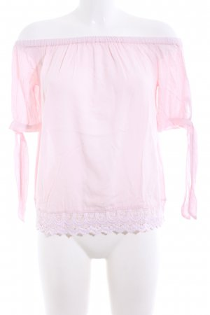 Only Carmen blouse roze casual uitstraling