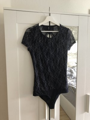 Only Bodysuit Blouse dark blue-silver-colored