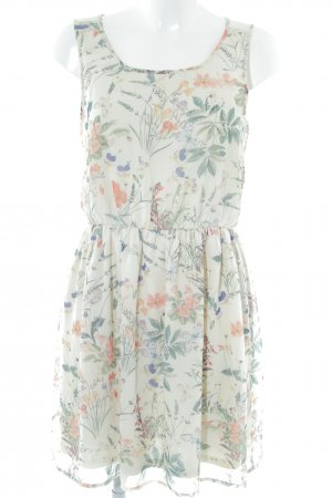 Only Chiffon Dress cream flower pattern casual look