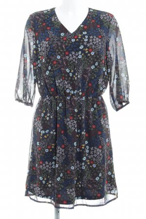 Only Chiffon Dress black-blue allover print casual look