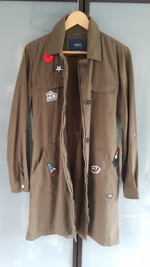 Only Long Jacket olive green