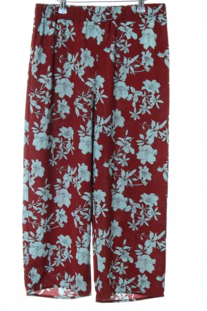 Only Culottes blau-rot Blumenmuster Casual-Look