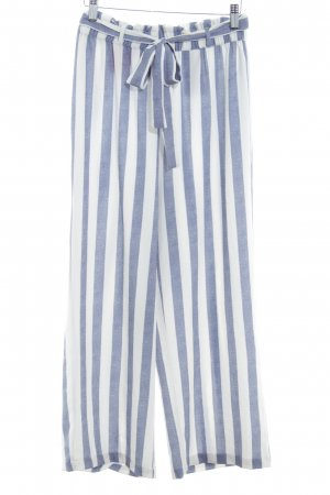 Only Culottes white-steel blue striped pattern casual look