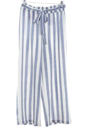 Only Culotte blanc-bleu acier motif rayé style décontracté