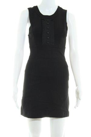 Only Cut-Out-Kleid schwarz-weiß Streifenmuster Beach-Look