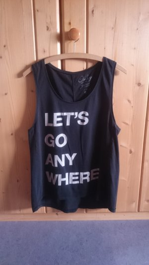 ONLY Cut Out Oversize Tank Top schwarz weiß 36 38 40 S M