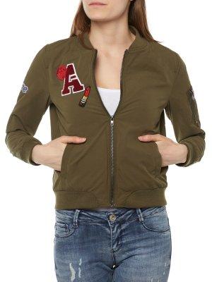 ONLY Damen Jacke Badge Bomber Jacket L 40 Neu mit Etikett