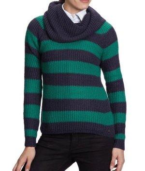 ONLY Damen Pullover grün blau Streifen Gr. M / 38 Neu OP 29,95