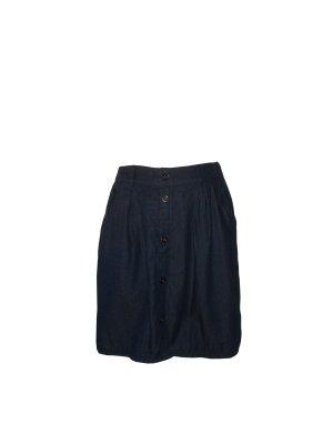 Only Damen Rock Jeans Denim Jeansrock durchgeknöpft blau dunkelblau Gr. 40 neu