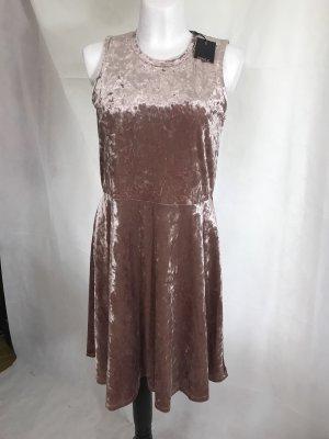 Only Damen Samt Kleid Rose Neu mit Etikett XL