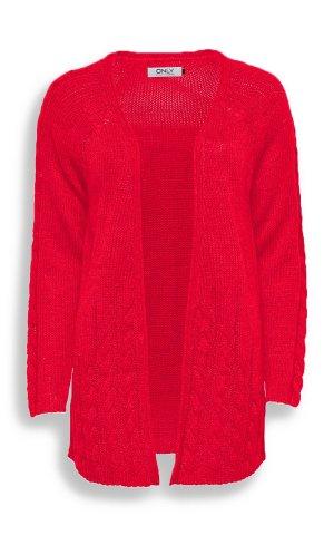 Only Cardigan tricotés rouge acrylique
