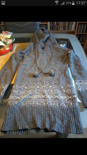Only Jersey de lana blanco-gris claro