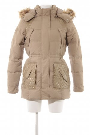 Only Down Coat beige quilting pattern casual look