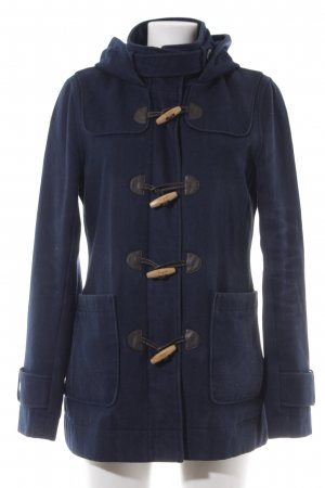 Only Duffel Coat dark blue check pattern casual look