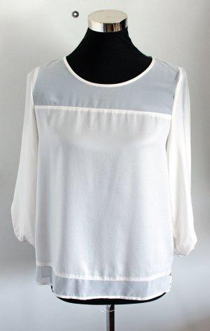 ONLY edle Tranparent-Bluse in cremeweiß nur 1x getragen - wie neu, Gr. S / 36