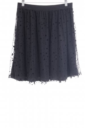 Only Falda a cuadros negro estampado a lunares look casual